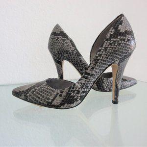 BCBGeneration Conchetta Snakeskin D'Orsay Heels